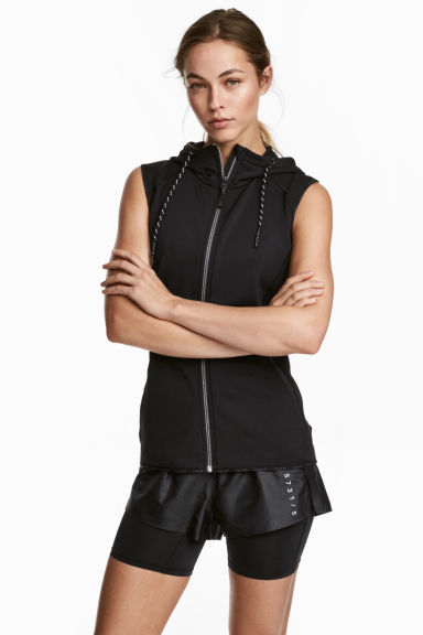 Fleece gilet - Black - Ladies | H&M 1