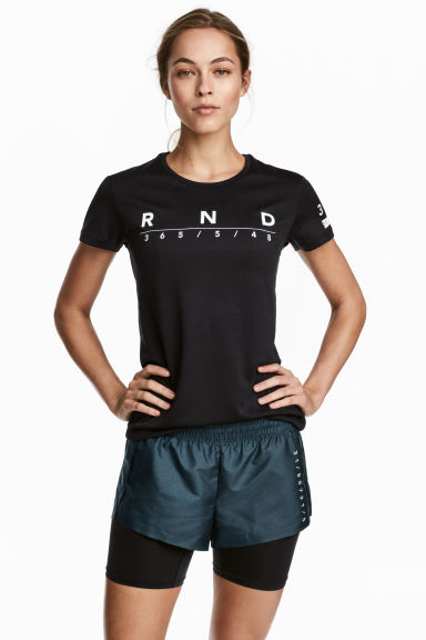 Running shorts - Dark turquoise - Ladies | H&M CN 1