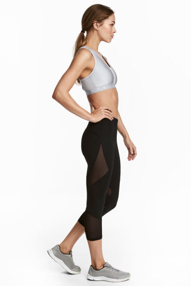 3/4-length running tights - Black - Ladies | H&M CN 1