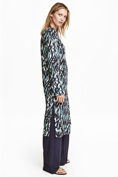 Patterned dress - Natural white/Blue - Ladies | H&M 1