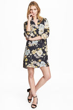 V-neck dress - Dark blue/Floral -  | H&M 1