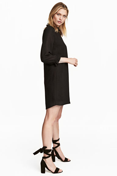 V-neck dress - Black -  | H&M