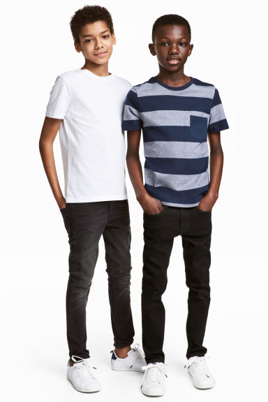 2-pack T-shirts - Dark blue/Striped -  | H&M