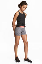 Short sports tights - Dark grey marl - Kids | H&M 1
