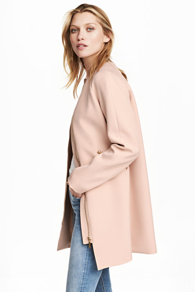 Short coat - Powder pink - Ladies | H&M GB