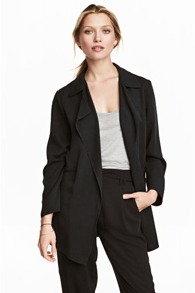 Lyocell jacket - Black -  | H&M GB 1