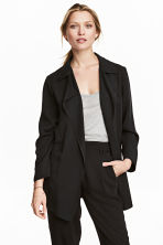 Lyocell jacket - Black -  | H&M 1