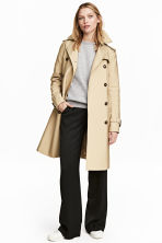 Trenchcoat - Light beige - Ladies | H&M 1