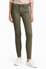 Super Skinny Regular Jeans - Khaki green - Ladies | H&M CN 1