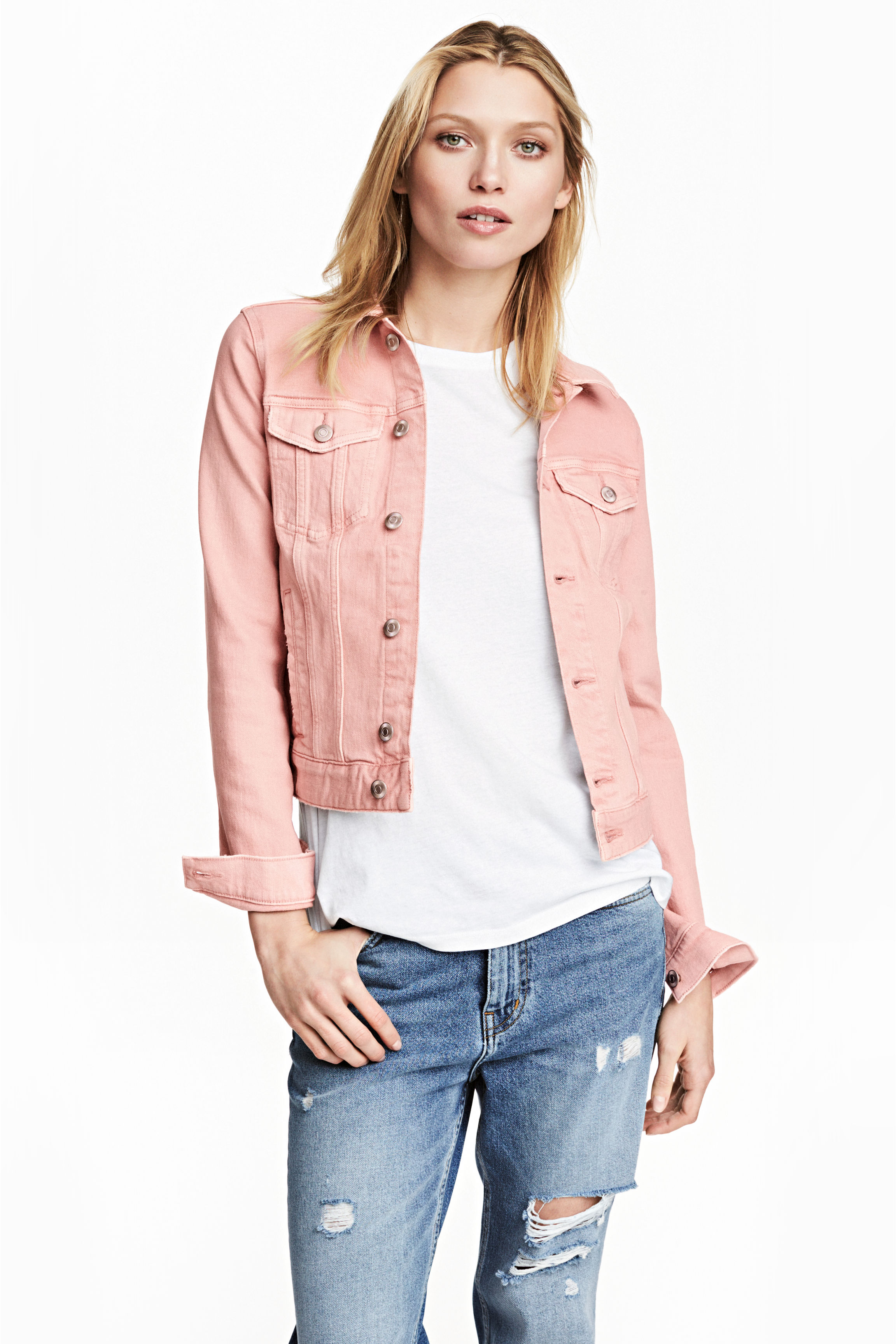 Denim jacket - Light pink - Ladies | H&M GB