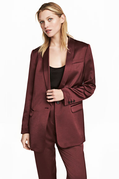 Tuxedo jacket - Burgundy - Ladies | H&M GB 1