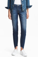Straight Cropped Jeans - ダークデニムブルー - Ladies | H&M JP 1