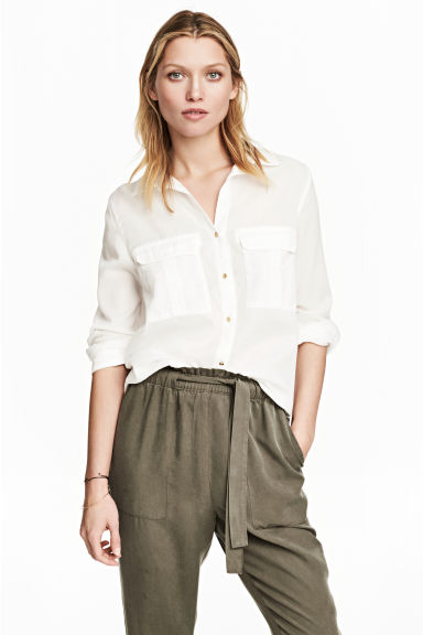 Utility shirt - White - Ladies | H&M 1