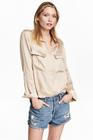 Utility shirt - Light beige -  | H&M 1