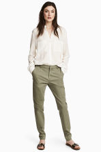 Chinos - Khaki green - Ladies | H&M 1