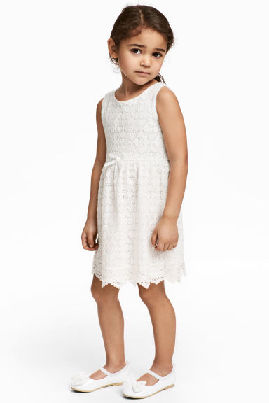 蕾絲洋裝 - White - Kids | H&M 1