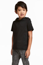 Hooded T-shirt - Black -  | H&M 1