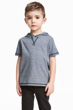連帽T恤 - Dark blue/Narrow striped - Kids | H&M 1