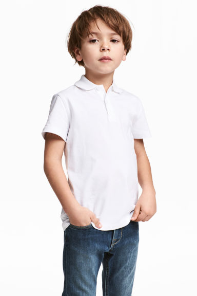 Polo shirt - White - Kids | H&M CN 1