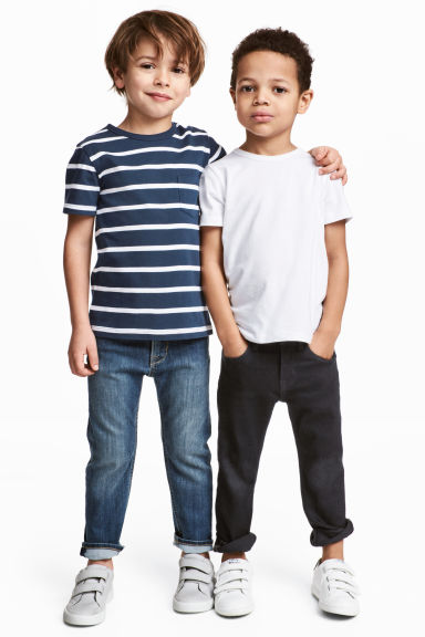 2-pack T-shirts - Dark blue/Striped -  | H&M 1