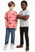 2-pack T-shirts - Grey marl - Kids | H&M 1