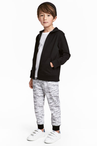 慢跑褲 - Black/White marl -  | H&M