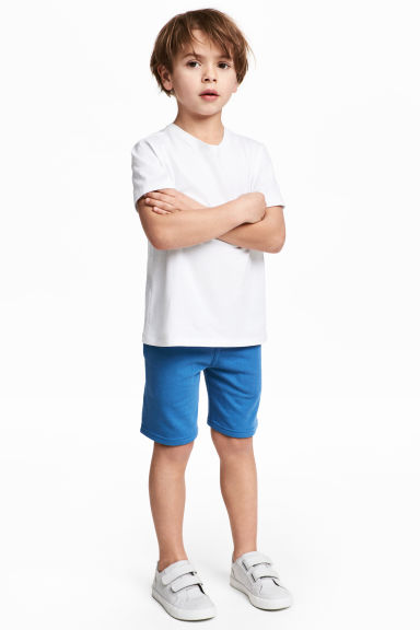Sweatshirt shorts - Bright blue - Kids | H&M CN 1