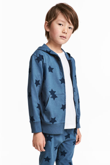 Hooded jacket - Blue/Star - Kids | H&M CN