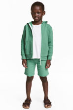 Sweatshirt shorts - Green - Kids | H&M 1
