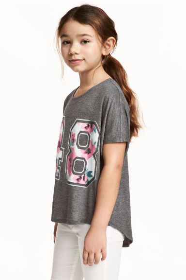 Wide top - Dark grey marl - Kids | H&M 1