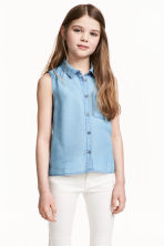 Sleeveless blouse - Blue - Kids | H&M 1