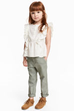 Cotton twill chinos - Khaki green - Kids | H&M 1