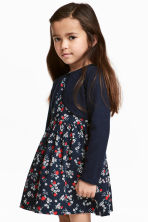 Fine-knit bolero cardigan - Dark blue - Kids | H&M CN 1