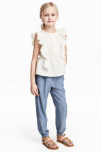 Pull-on trousers - Blue/Chambray -  | H&M 1