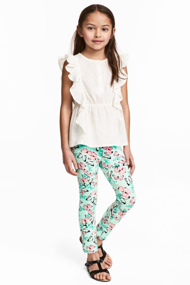 Treggings - Verde menta/farfalle - BAMBINO | H&M IT 1