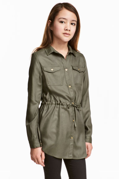 Twill tunic - Khaki green - Kids | H&M CN 1