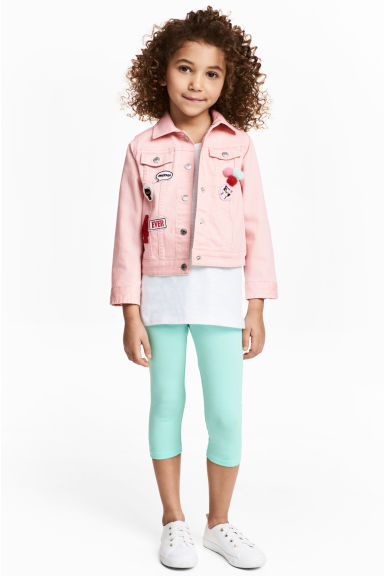 3/4-length leggings - Mint - Kids | H&M 1