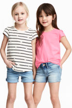 2-pack jersey tops - Natural white/Striped -  | H&M 1