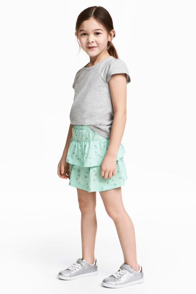 Jersey skirt - Mint green/Butterflies - Kids | H&M CN 1