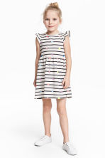 Jersey dress - White/Striped - Kids | H&M 1