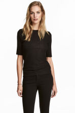 Crinkled top - Black - Ladies | H&M 1