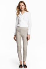 Suede trousers - Grey beige - Ladies | H&M 1
