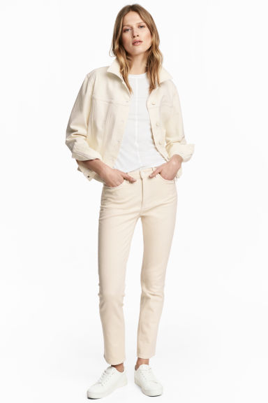 Slim High Waist Jeans - Natural white denim - Ladies | H&M IE 1