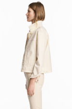 Denim jacket - Natural white denim - Ladies | H&M 1