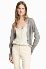 Cardigan in misto cashmere - Grigio mélange - DONNA | H&M IT 1