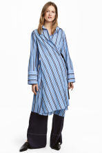 Striped shirt dress - Blue/Striped - Ladies | H&M CN 1