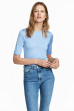 Top in seta - Azzurro - DONNA | H&M IT 1