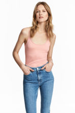 Silk strappy top - Powder pink - Ladies | H&M CN 1