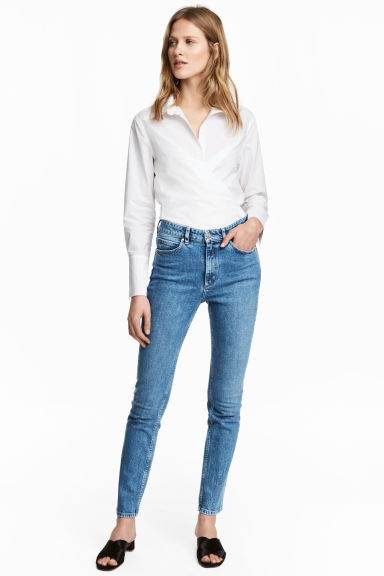 Slim High Waist Jeans - Denimblauw - DAMES | H&M NL