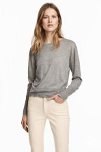 Cashmere-blend jumper - Grey marl - Ladies | H&M 1